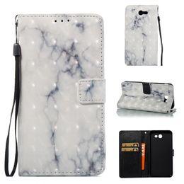 j7 чехол для кошелька Скидка Мраморный бумажник Case кожа карты Solts ТПУ флип Case для Samsung Galaxy S5 S6 edge A3 A5 2017 J3 J5 J7 2017