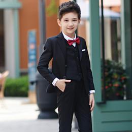 Wholesale Baby Boy Summer Formal Suit - Boys Wedding Suits Boys Suits 4 Piece Waistcoat Suit Wedding Page Boy Baby Waistcoat Suit Page Boy Suits Boys Wedding