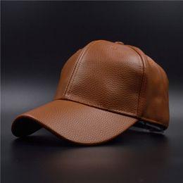 Wholesale Leather Baseball Caps For Men - Hot PU Leather Baseball Cap Biker Trucker Snapback Hats for Men Women Hats and Caps Wholesale Bone Casquette