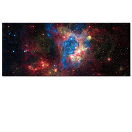 Wholesale Canvas Paintings Sky - Wholesale Unframed Large Magellanic Cloud LMC Photo Canvas Prints Starry Sky Canvas Printed Artwork Home Wall Decoration