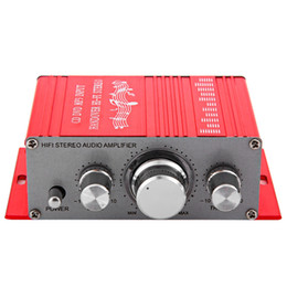 Wholesale Digital Audio Power Amplifier - HY - 2001 Hi-Fi Mini Digital Motorcycle Auto Car Stereo Power Amplifier Sound Mode Audio Support DVD MP3 163479501
