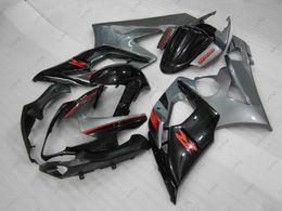 Wholesale Gsxr Grey - Plastic Fairings GSXR 1000 06 Body Kits for Suzuki GSXR1000 05 Black GREY Fairing Kits GSX-R1000 2005 2005 - 2006 K5