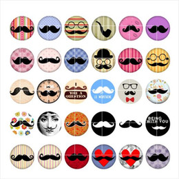 Wholesale Wholesale Mustache Jewelry - Free shipping Mustache snap button jewelry charm popper for bracelet 30pcs   lot GL014 jewelry making