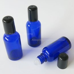 Wholesale Cobalt Perfume - 30ml Cobalt Blue Roll On Perfume Glass Bottle 1oz Empty Glass Roll-on Parfum Vials