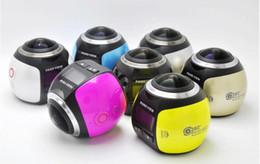 Wholesale Professional Wireless Video Camera - 2017- New 360 degree mini wireless mini sport DV camcorder 2448*2448 Ultra HD Panorama Camera waterproof sport DV VR camera video Camera