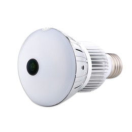 Sistemas de grabación de cámaras de seguridad online-5.0MP Fisheye bombilla panorámica Cámara HD WIFI Lámpara de bulbo DVR mini cámara IP Lámpara de detección de movimiento DVR Video Recorder Home Security System