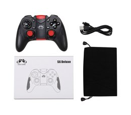 Wholesale games deluxe - New Gen Game S6 Deluxe Wireless Bluetooth Gamepad Joystick Gaming Controller for Android Smartphone Holder Included Black  White