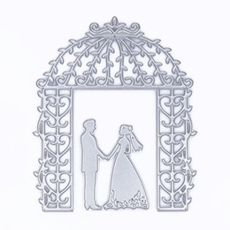 Wholesale Wedding Stencils - Bride Groom Wedding Cutting Dies Stencil for DIY Scrapbooking Album Decorative Embossing Folder Suit DIY Paper Cards