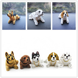 Wholesale Shake Dolls - Car Styling Cute Bobblehead Dog Doll Car Ornament Nodding Dog Shakes His Head Shaking Dog For Car Decoration Furnishing Articles