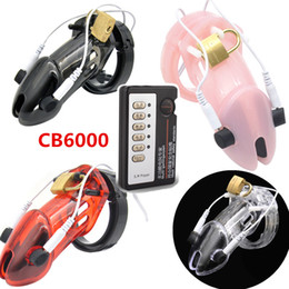 Wholesale Men Cock Toys - Electric Shock Medical Therapy Chastity Cage Devices CB6000 CB6000s Cock Cage Penis Lock Ring Toys for Man G153