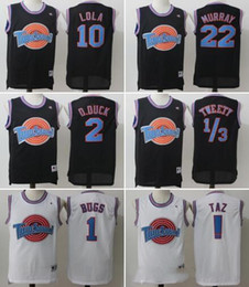Wholesale Michael Shirts - Movie Space Jam Tune Squad Jersey Men's 23 Michael 1 Bugs 10 Lola 1 3 Tweety 22 Murray Shirt Embroidery basketball Jersey S-XXL