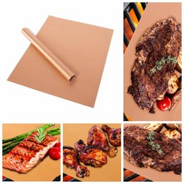 Wholesale Mat Camp - Copper Chef Grill Bake Mats Outdoor Camping Hiking BBQ Tools Barbeque baking BBQ Pad Mats OOA1821