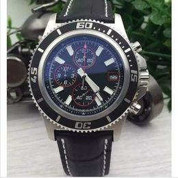 Wholesale Luxury Watches Superocean - Buyer satisfied store brand watches men superocean II heritage 46 watch leather belt watch quartz chronograph watch men dress wristwatches