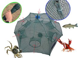 Wholesale Nets Shrimp - Portable folding Yabbie Shrimp Crab crayfish Fishing trap snare Pot cage Net Bottom diamter:90CMXHeight:30CM