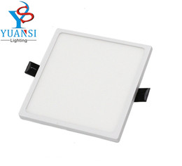 Wholesale Led Ceiling Panel 22w - Wholesale- YUANSI Non dimmable 5w 8w 16w 22w 30w led panel light,ultra slim 4014SMD round square led ceiling recessed lamps AC85-265V