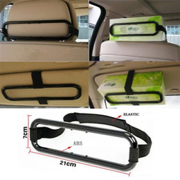 Wholesale paper seat - Car Sun Visor Tissue Napkin Paper Box Holder Auto Vehicle Back Seat Holder Organiser Storage Universal