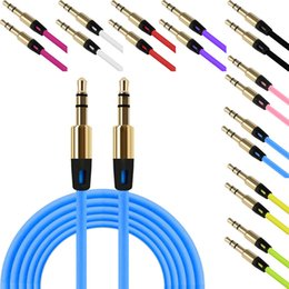 3.5mm cable de audio del conector en venta-Cable auxiliar audio colorido de la onda AUX de la onda de 3.5mm al macho Cable plástico estéreo del gato para el teléfono de Samsung Altavoz del auricular de la PC MP3