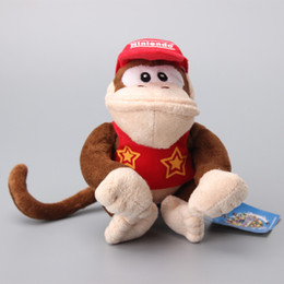 Wholesale Diddy Kong - Super Mario Bros Diddy Kong Plush Toy Stuffed Dolls Kids Gift 16 CM