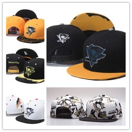 Wholesale Cheap Sports Logo Hats - Cheap dad hat Pittsburgh Penguins Gradient Style Baseball Snapback Hats Sport Hockey Embroideried Character Logo Casquette Caps bone