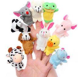 Wholesale Hand Puppet Plush Doll Children - 10pcs lot Baby Stuffed Plush Toy Finger Puppets Tell Story Animal Doll Hand Puppet Kids Toys Children Gift 10 Animal Puppet