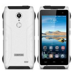 Wholesale Waterproof Phone India - HOMTOM HT20 IP68 Waterproof 4G Smartphone Android 6.0 Quad Core MT6737 2GB RAM+16GB ROM Fingerprint Shockproof Mobile Phone