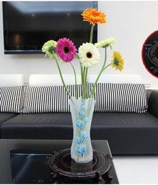 Wholesale Small Plastic Wholesale Vases - DIY flower MIX Size folding PVC foldable small opp bag eco-friendly vase Free DHL FEDEX Shipping many design ship random