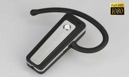 Grabadora de auriculares online-1080P Auricular Bluetooth Cámara Bluetooth Auriculares DVR cámara estenopeica Mini DVR Full HD mini videocámara Video Recorder Auricular