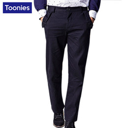 Wholesale Business Casual Clothes For Men - Wholesale- Fashion Pants Sweat Pants for Men 2017 Spring High Quality Men's Trousers Casual Solid Cotton Business Plus Size Brand Clothing