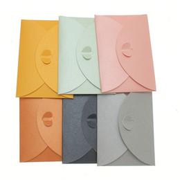 Wholesale Double Sided Clasps - Wholesale-10pcs lot Colorful Paper Envelope Pearl Colored Heart Clasp Envelopes Wedding Invitation Envelope Gift DIY Envelopes 10x7cm