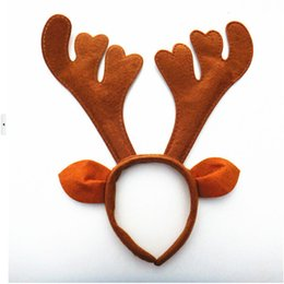 Canada Gros-adulte Cosplay peluche renne Antlers bandeau pour Noël Pâques Halloween Party chapeau décor cheap easter kids headbands Offre