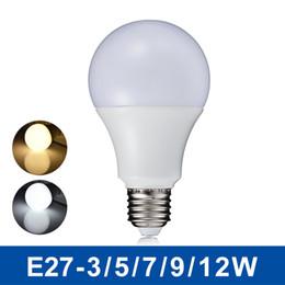 Wholesale Bright Heat - NEW LED Lamp E27 3W 5W 7W 9W 12W AC110-240V LED Globe Bulb Light SMD5730 Fast Heat Dissipation High Bright Lampada LED Lamps