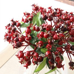 Wholesale Artificial Berry Plants - 4 Colors Wedding Decoration Artificial Berry Simulation Flowers Fruits Home Decoration Artificial Plants Free Shipping