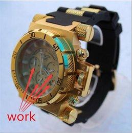 Relojes de logotipo de calidad online-Marca suiza de alta calidad INVICTA LOGO Dial giratorio Deportes al aire libre Reloj para hombre Reloj de cuarzo de silicona Las funciones funcionan