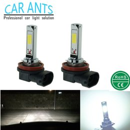 Wholesale Led Lighting Parts - LED Plug&Play COB H1 H3 H4 H7 H8H9H11 H16(JP) H10 9005 9006 880 881 30W 1400LM 12V 24V Auto Parts Fog Light Bulb Lamp Nonpolarit Car-styling