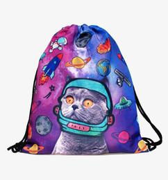 a8c7234f3307 Space Cats 3D printing mini Backpack Women bags 2017 fashion drawstring bag  mochila feminina Travel bag backpacks sac a dos