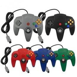 Wholesale Games For Nintendo - 5 color mat lever handle controller for nintendo games long since 64 N64 games console cable system