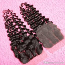 Wholesale Malaysian Hair Tied Weft - Hair Human Malaysian Curly * Hand Tied Malaysian Deep Wave Best Quality Malaysian Lace