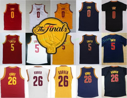 Wholesale Fans Patches - 2017 Final Patch 0 Kevin Love Jersey Men For Sport Fans 5 Jr Smith 26 Kyle Korver Basketball Jerseys Team Color Navy Blue Red White Yellow