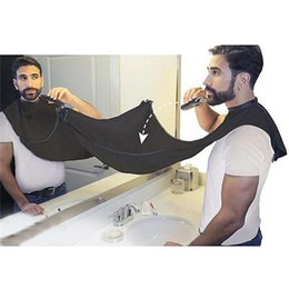 Wholesale Cleaning Man - Man Bathroom Apron Black Beard Care Trimmer Hair Shave Apron for Man Waterproof Floral Cloth Household Cleaning Protections 0703083