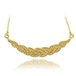 Tipi catene in oro 18k online-Miglior regalo Tipo di nave Collana di gioielli in oro 18k adatta a donne GGN759, Collane con pendente in oro giallo con gemme bianche