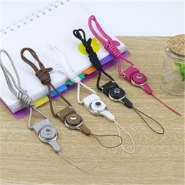 Wholesale cell flash cards - Rotatable Strap Detachable Ring Lanyard hanging Charming Charms Rotating Buckle For Cell Mobile Phone MP3 MP4 Flash Drives ID Cards holder
