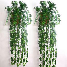 Wholesale Leaf Decor - Wholesale- Home Decor 2.5m Delicate Artificial Ivy Leaf Garland Plants Vine Fake Foliage Flowers Beatiful Party Wedding Supplies