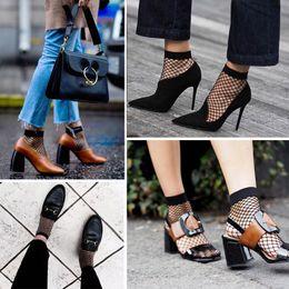 Wholesale Knit Socks Adults - New Fishing Net Socks Spring and Summer Adult Ladies Magic Black Net Mesh Short Socks Wholesale