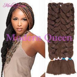 Wholesale Kanekalon Hair African - (1Piece)Synthetic Kanekalon Braiding Hair 82''165g Kanekalon Jumbo Braid Bulk Kanekalon African Braiding Hair Crochet Braids Hair Extensions