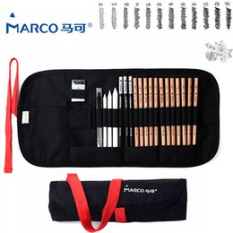 Wholesale Marco Pencil - Wholesale- Marco 2017 Safe Non-toxic Sketch Pencils Professional Art Pencils Set For Write Drawing Art Supplies School Student Stationery