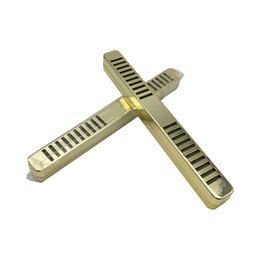 Umidificatori di tipo online-2 pezzi d'oro bianco ruggine in metallo tipo di barra di tabacco sigaro umidificatore umidificatore sigaro umidificatore sigaro fumo accessori