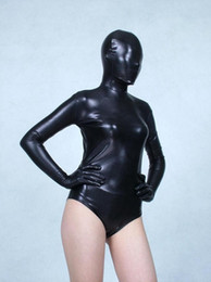 Wholesale Metal Tights - Black legs Elastic tights full body Glue Spandex lycra Metal flashing color Adult suit dress Clothes soft temptation