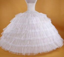 Wholesale Wedding Dresses Large Trains - 7 Hoops Bride Wedding Dress Accessories Trailing 7 layer Steel Large Petticoat Maxi Size