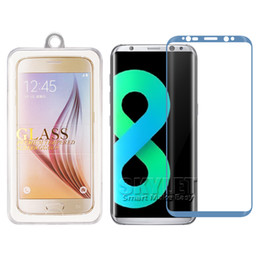 Wholesale Colorful Screen Protector 3d - For Galaxy S8 3D Curved Tempered Glass S8 edge Full Cover Protector Film Colorful Tempered Glass Screen Protector With Retail Package