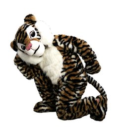 Wholesale Tiger Mascots Costumes - tiger Mascot Costume Cartoon Character Adult Size high quality Longteng (TM) 0234